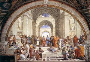 """La """"Scuola di Atene"""" di Raffaello Sanzio"""